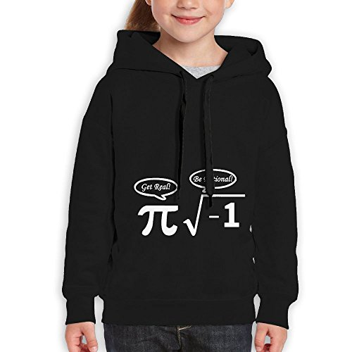 Price comparison product image FDFAF Teenager Youth NERD GEEK PI Tour Classic Hoodie Sweatshirt L Black