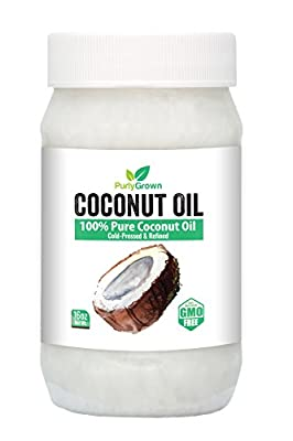 Cold Pressed Virgin Coconut Oil: Healthy Cooking Coconut Oils With Organic Extracts For Weight Loss, Beauty, Skin Care, Hair Loss & Care: GMO Free. by Purly Grown