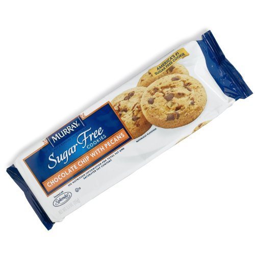 Murray, Sugar Free Cookies Chocolate Chip with Pecan, 5.5-Ounce Packages (Pack of 4) (Cookies Murray Free Sugar)