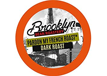 Brooklyn Beans French Roast Coffee Pods, Compatible with 2 0 K-Cup Brewers,  40 Count