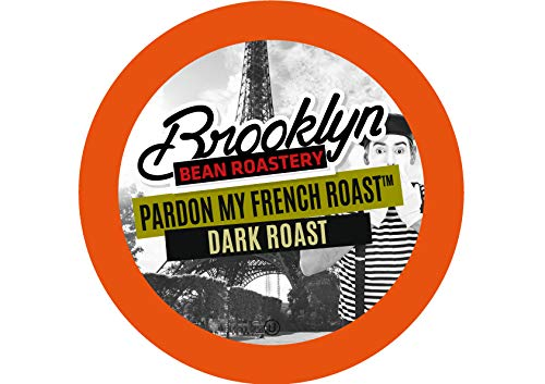Brooklyn Beans French Roast Coffee Pods, Compatible with 2.0 K-Cup Brewers, 40 Count