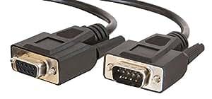 Cables To Go - Cable alargador (3 m, Db9, macho/hembra), color negro