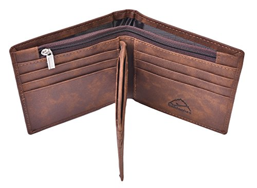 Hopsooken Leather Bifold Wallet Trifold product image