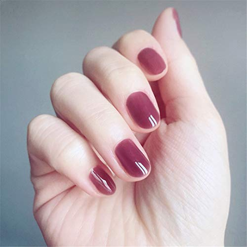 15 Styles Choose Fake Nails Elegant Grid Lattice Artificial Square Nail Tips With Glue Sticker Unhas Press On Nails 24Pcs/Set 2 ()