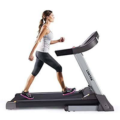 Easy Assembly Heavy Duty Running 3PH Treadmill with Auto Incline, 18KM/H USB &MP3 & Heart Rate Monitor Calories Vibration system Easy-own lubrication(Black)