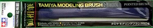 TAM87172 Tamiya Modeling Brush PROII Pointed Brush - UltraFine