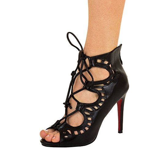 Ital-Design Damen Schuhe, MM-13, Pumps High Heels Gladiator Sandaletten Schwarz