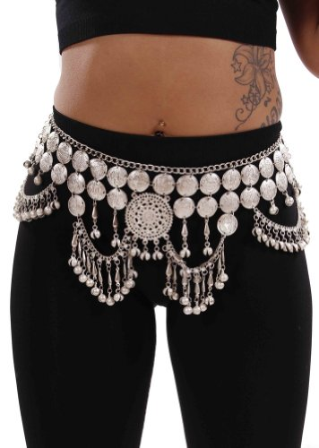Belly Dance Tribal Coin Belt | Maran Glory - (Coin Tribal Belly Dance)