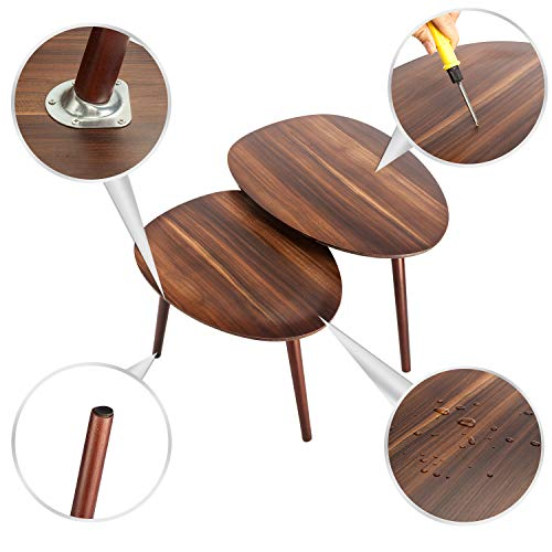 e6c61dc196 Bonnlo Nesting Tables Stacking Coffee/Side/End Tables for Living Room, Home  and