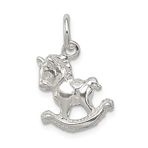 Jewelry Pendants & Charms Themed Charms Sterling Silver Polished Rocking Horse Pendant ()