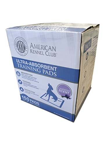Image of American Kennel Club Lavender Scented Training Pads in Box (150 Pack)
