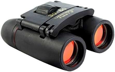 Sminiker 30x60 Folding Binoculars Telescope for Travel and Sports Bird Watching (Black)