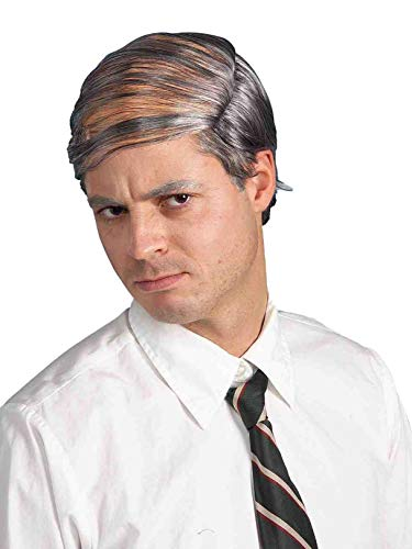 Forum Novelties Men's Bald Man Comb Over Costume Wig, Grey, One Size -