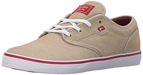Der bunte Skate-Schuh der Kugel-Männer Tan / Rot