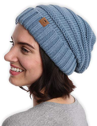 Tough Headwear Cable Knit Beanie - Thick, Soft & Warm Chunky Beanie Hats for Women & Men