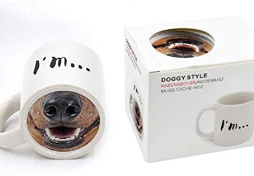 Ktwd WAN-Hee Nariz de Perro de Dibujos Animados Taza de cerámica ...