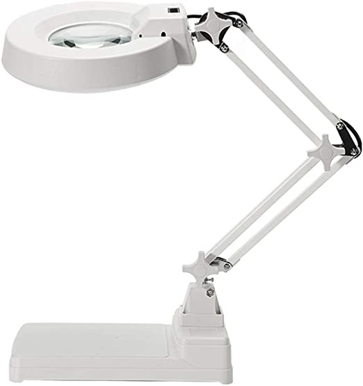 Folding Magnifying Glass with LED Light And Adjustable Lamp Magnifier