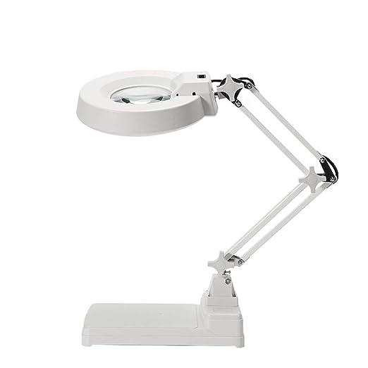 MAGFYLY Lámpara de Escritorio Lupa de Mesa Plegable, Lupa de Lupa ...
