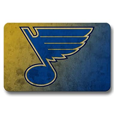 Indoor Bathroom Non-skid St. Louis Blues Rectangular Door Mats Doormats Cover 16x24Inch / 40x60cm
