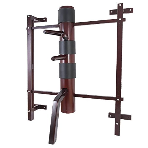Wing Chun Wooden Dummy Mook Yan Jong - Traditional Ip Man SOLID Wooden Dummy with Adjustable Wall Mounted Stand M010