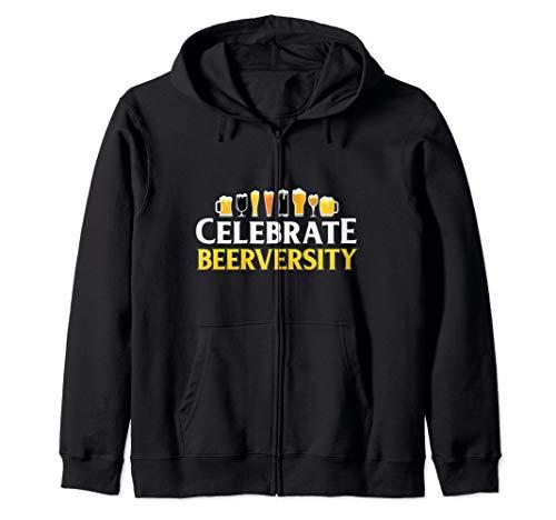 Celebrate Diversity Craft Beer Lover IPA Prost Oktoberfest  Zip Hoodie