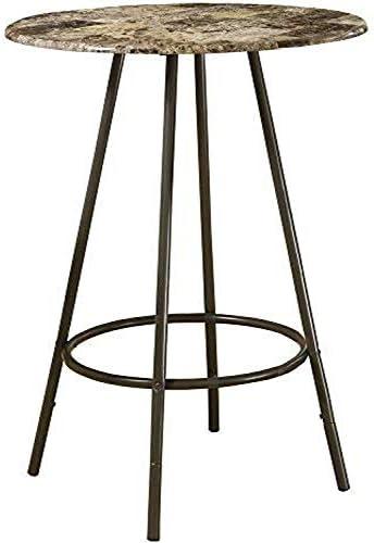 Monarch Specialties Metal Diameter Bar Table