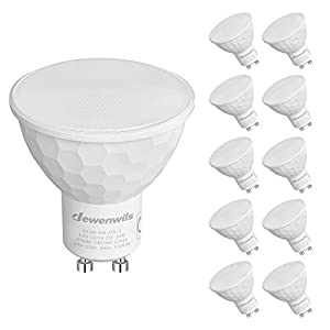 DEWENWILS Dimmable GU10 LED Bulbs, 5W(50W Halogen Replacement), Warm White 2700K, 120° Wide Beam, 350LM Recessed…