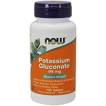 NOW Potassium Gluconate 99mg,100 Tablets