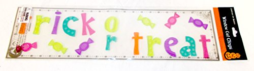 Shopko Trick Or Treat Candy Multi Colored Gel Clings Cling Window Mirror Decor 19 X 5 Nip