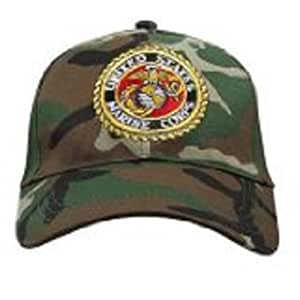 DELUXE LOW PROFILE CAP CAMO - MARINE CORP LOGO