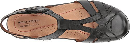 Rockport Cobb Hill Collection Women's Cobb Hill Penfield T Sandal Black Leather 8.5 A US