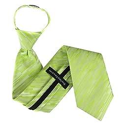ZIP-11079 - Lime Mens Zipper Tie