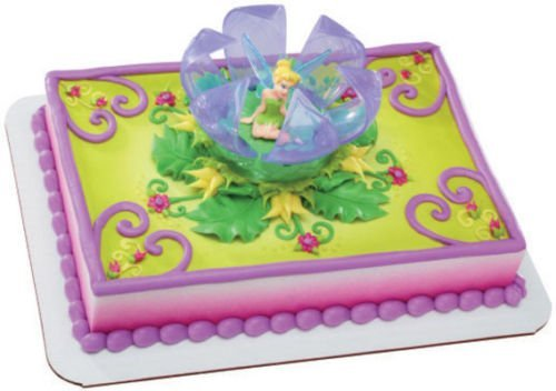 CakeDrake TINKERBELL TINK Fairy Wing Flower Petals Birthday Cake Topper Decor Set -