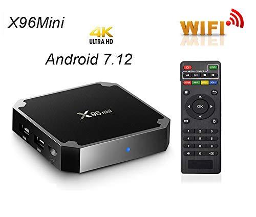 Android TV Box,Smart TV Box Amlogic S905W Quad Core Media Box 1GB 8GB ROM,Support WiFi 2.4GHz HDMI Media Player