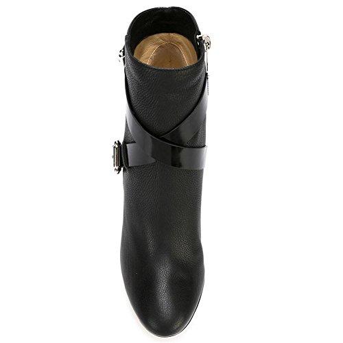 Couture Bouton Hiver Talons Nvxie Noir Sangles Mat Chaussures Automne Bottines Dames Pointée Printemps À Rugueux Métal Cuir Femmes Eur36uk354 Croisées Noir qqPZg