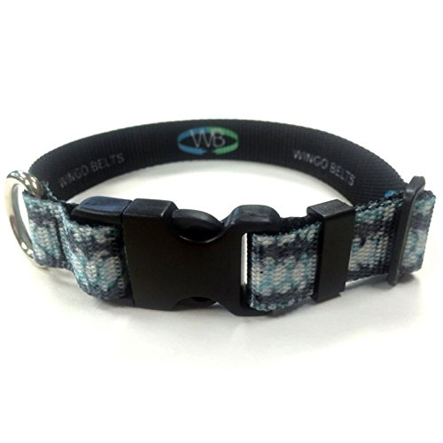 Wingo Belts Dog Collars L/XL Striped Bass