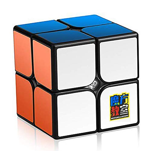 Speed Cubes 3DCube MoYu 2x2 Puzzles Smooth Cube,Magic Cube 3D Puzzle Cube,Toys Games for Kids 50mm (Black) ()
