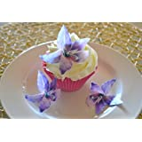 Edible Lily Flowers -Set of 12 - Cake and Cupcake Toppers, Decoration