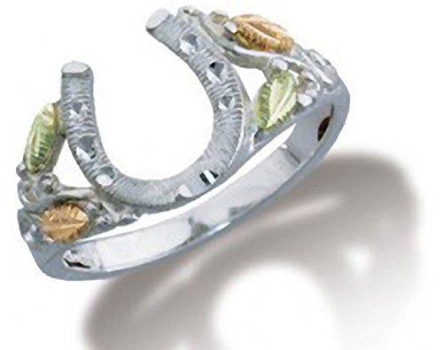 Black Hills Gold on Sterling Silver Horseshoe Ring from Landstroms - Ring Size (Black Hills Gold Horseshoes)