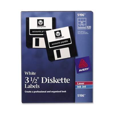 3.5 Diskette Labels - AVE5196 - Avery Laser/Inkjet 3.5in Diskette Labels