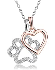 """Wishing love and good luck, this sparkling charms necklace pendant from the GuqiGuli """"Love and Good Luck"""" Collection is a look she'll treasure"""