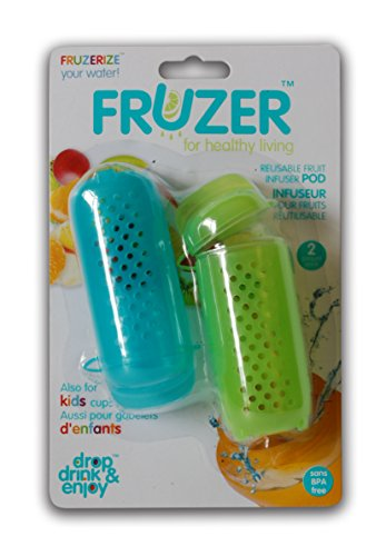 FRUZER Fruit Infuser Pod (2 Pack), Blue/Green, One Size