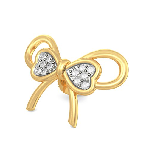 18 K Or jaune 0.12 CT TW White-diamond (IJ | SI) Boucles d'oreille à tige