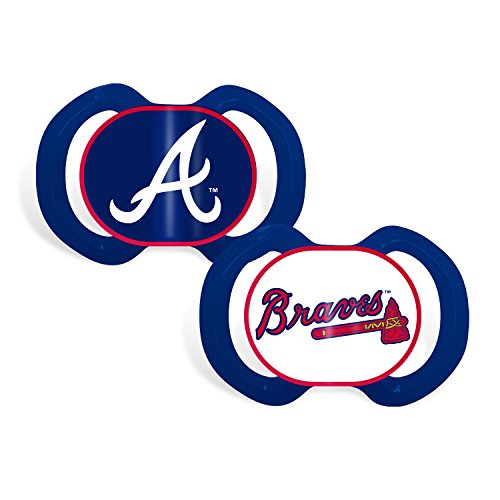 Baby Fanatic 2 Piece Team Colors Pacifier, Atlanta Braves -