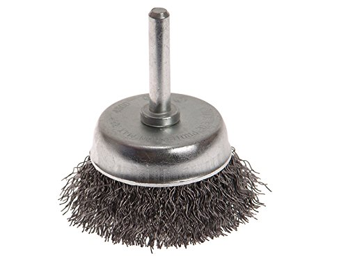 Faithfull Wire Cup Brush 50 x 6mm Shank 0.30mm