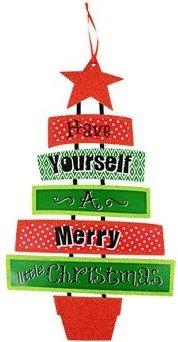 Holiday Tidings Dangle Tree Wall Decor;