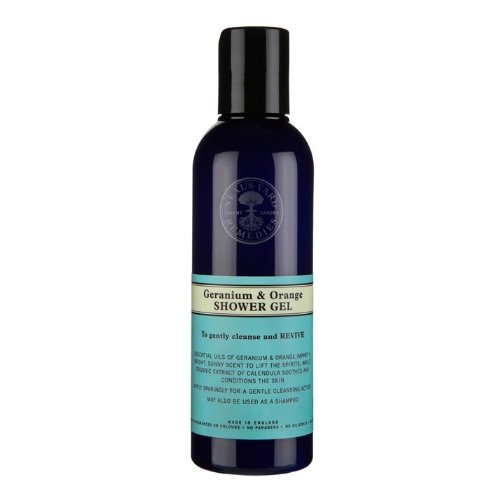 Neal's Yard Remedies Body Care Geranium & Orange Shower Gel 200ml Neal's Yard Remedies