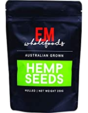 EM Wholefoods Australian Grown Hulled Hemp Seeds, 250 g