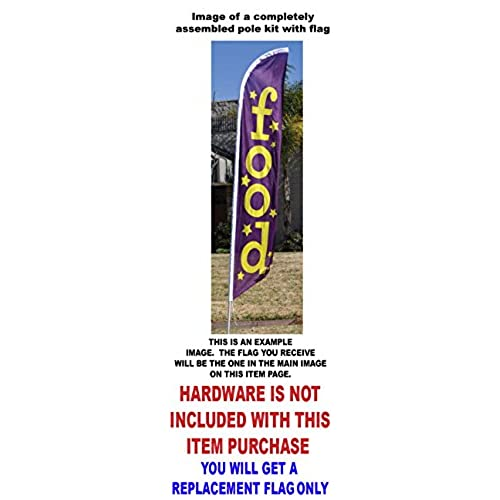 NO Wind Required Crafts Feather Banner Swooper Flag for Festivals and Events Replacement Flag ONLY