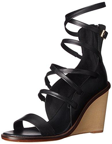 Sandal Women Aldo Black Russella Leather Wedge twnxqq4dS